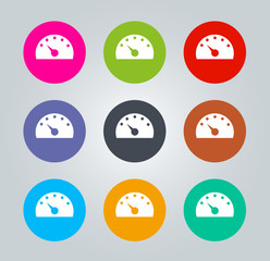 Dashboard - Metro clear circular Icons