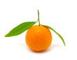 mandarin on white