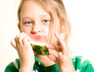 slice of sweet watermelon