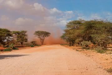 Sandstorm in Kaisut Desert, Kenya