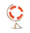 Red life buoy globe 3d Illustrations on a white background