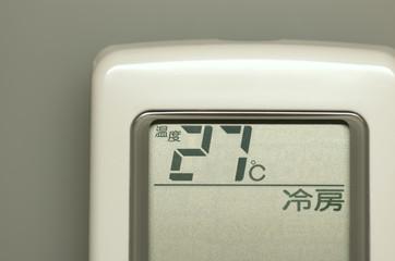 エアコンのリモコン(冷房)