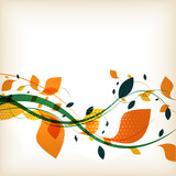 Fototapety Abstract floral autumn background