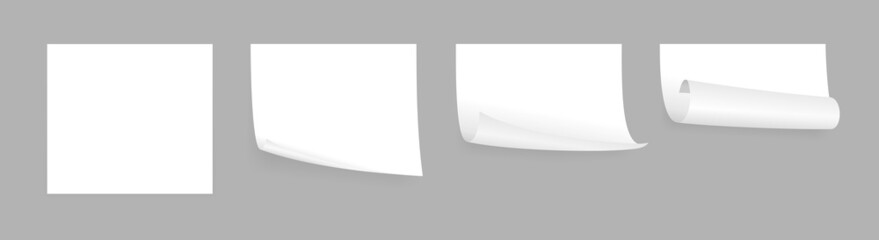 white adhesive papers