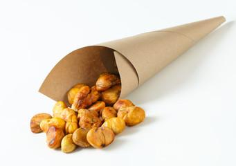 Peeled roasted chestnuts