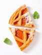 Lattice topped apricot tart