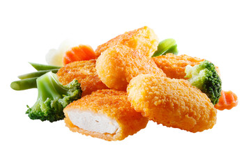 Nuggets with vegetables. File contains сlipping path