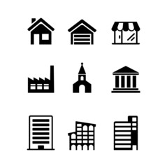 Web icons set - houses, architecture