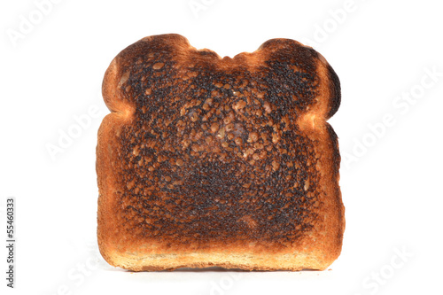 Foto op Canvas Brood Burned Toast