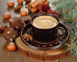 Coffee and chocolate fudge