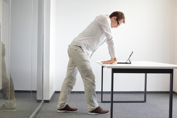 wrists exercise durring office work at laptop