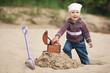 little funny girl hunting for treasure