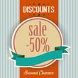 discounts retro poster