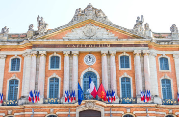 The city hall in Toulouse, France