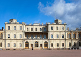 Russia,Gatchina, parade-ground before palace