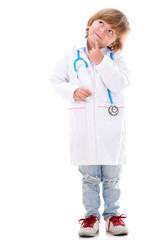 Pensive boy doctor
