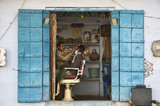 India, Rajasthan, Pushkar, barber shop