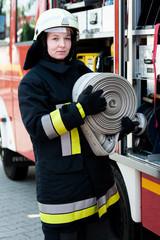 Female Firefighter Feuerwehrfrau