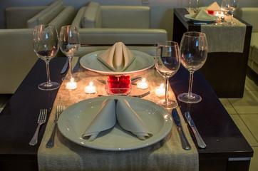 gastronomía y velas