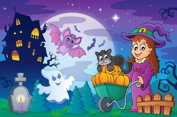 Halloween topic scene 2
