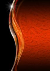 Orange Black and Metal Luxury Background