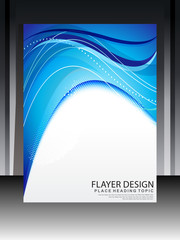 Abstract Blue Flayer Design
