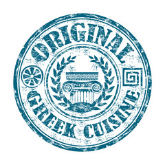 Original Greek cuisine grunge rubber stamp
