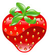 Illustration of shiny strawberry icon