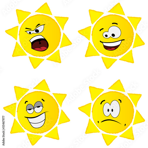 Set of sun images