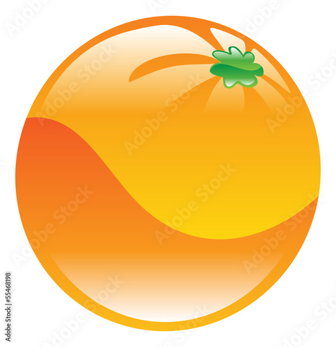 Illustration of orange fruit icon clipart