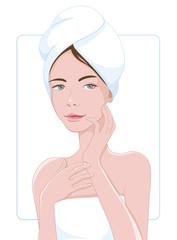 Beautyful girl with bath towel