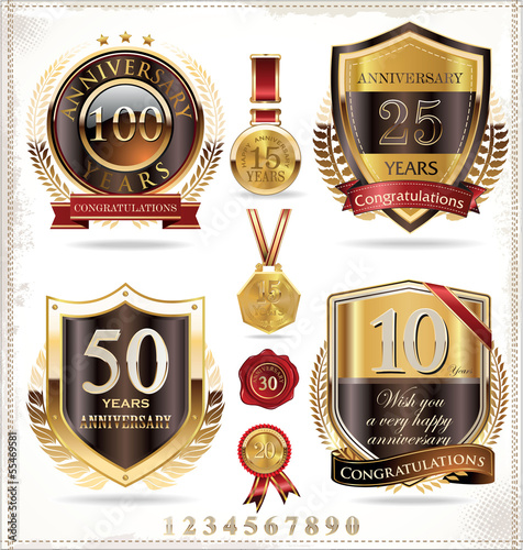 Anniversary golden label