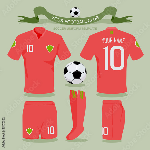 Soccer uniform template.