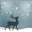 reindeer with christmas swirls