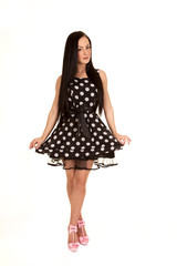 pull dress out polka dot