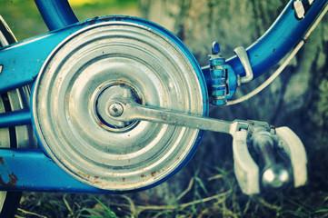 Copricatena vecchia bicicletta anni 60, effetto vintage