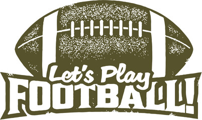 Let's Play Football Sport Stamp