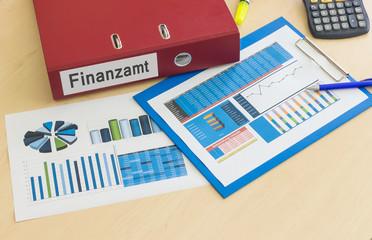 Finanzamt Steuer Diagramme