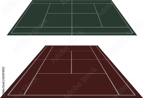 Set tennis courts in perspective