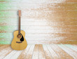 Guitar in old room background - 55476140