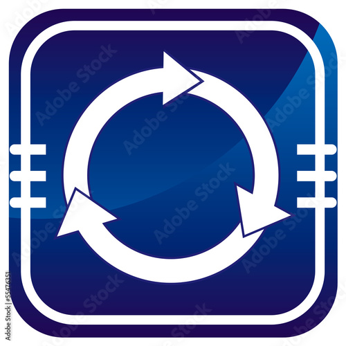 Arrows circle vector blue icon