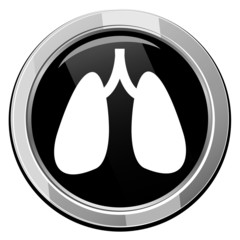 Human organs. Lungs. Vector icon isolated