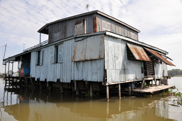 Tinplate house, Chau Doc, Mekong delta (Vietnam)