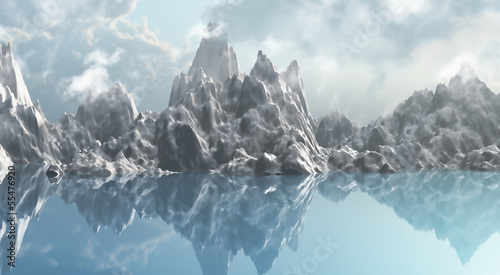 Ice mountain range