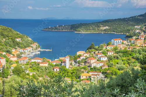 Staande foto Athene Greece ithaki island, panoramic view of the sea by the main harb