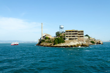 Alcatraz island in San Francisco bay, California. USA