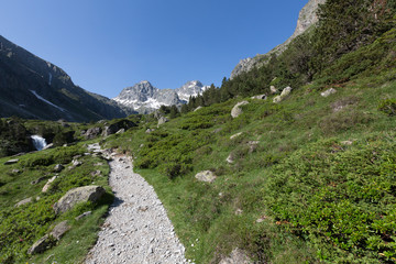 Valley in mountain, National park of pyrénées, France