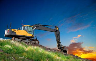 Digger at sunset