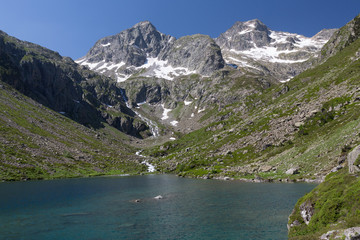 Mountain lake, National park of pyrénées, France