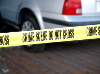 Yellow Tape Marks Crime Scene